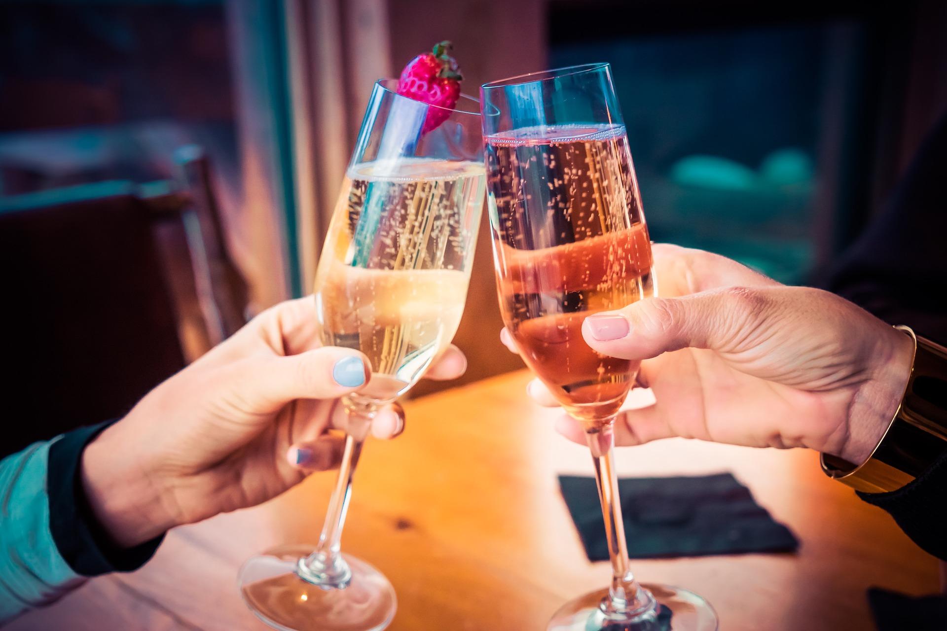 Champagne e borbulhas de amor